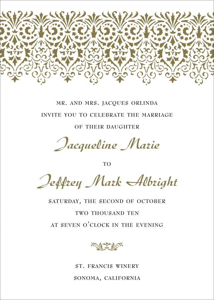 Free Template Wedding Invitation Wording