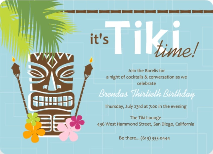 Free Tropical Party Invitation