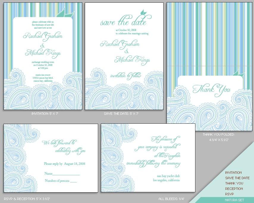 Free Wedding Invitation Kit Templates