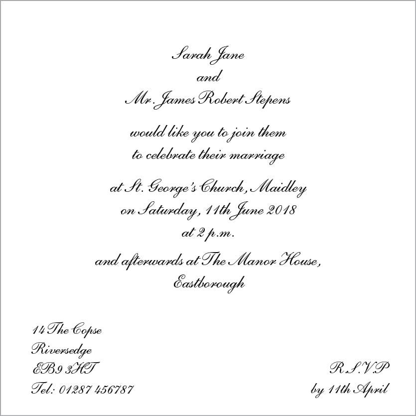 Free Wedding Invitation Printables Uk