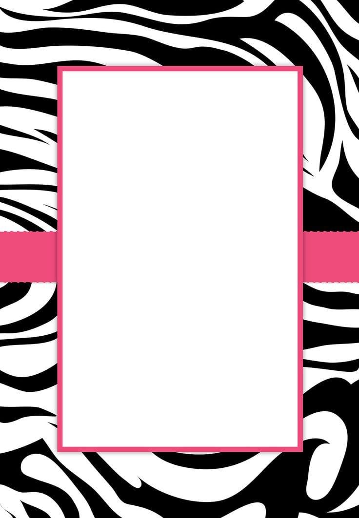 Free Zebra Print Invitation Template
