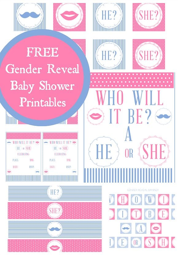 Gender Reveal Invitations Free Template