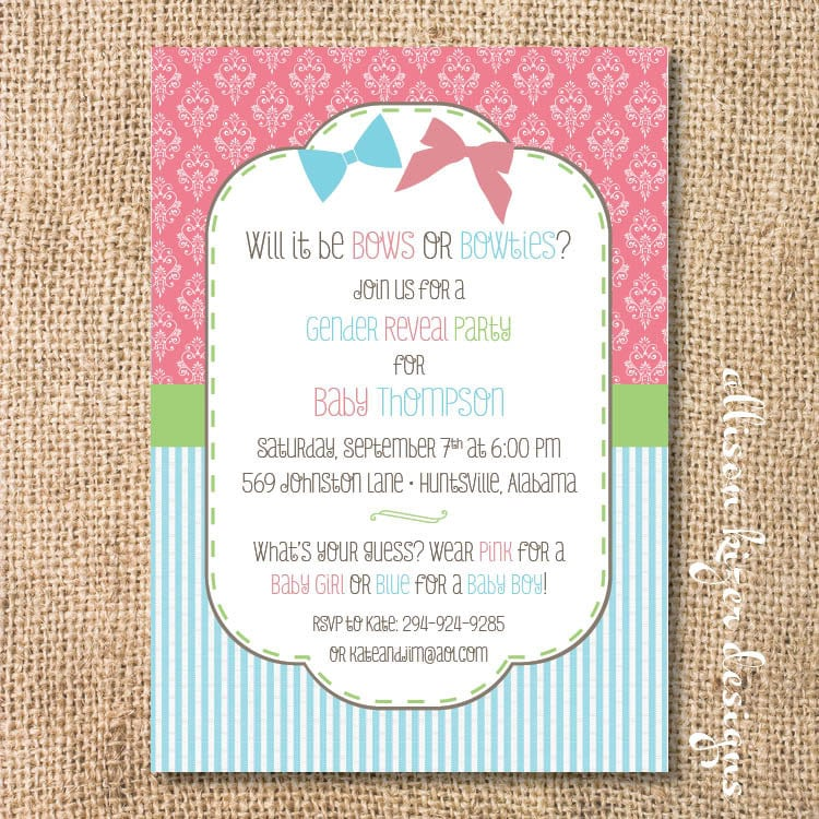 Gender Reveal Party Invitations Wording