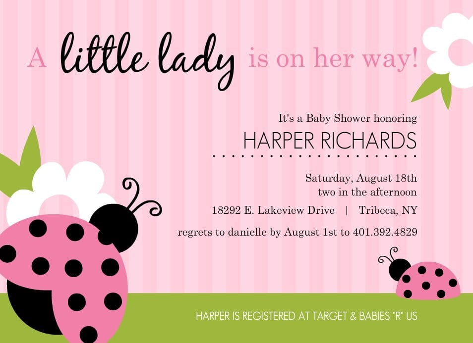 Girl Baby Shower Invitation Templates
