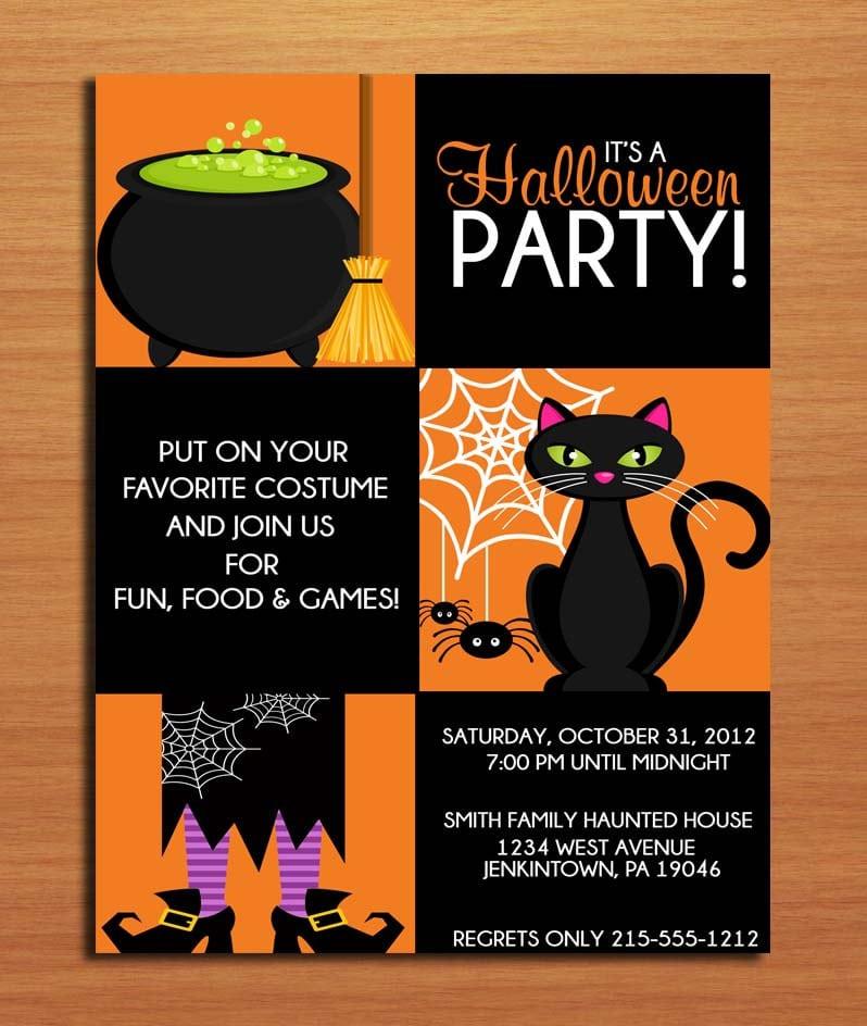 Halloween Birthday Invitation Ideas