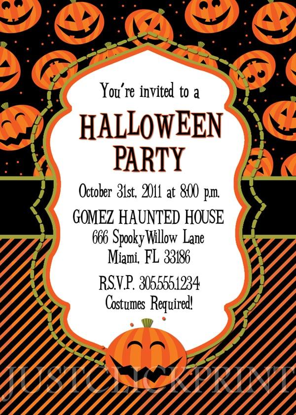 Halloween Birthday Invitation Wording