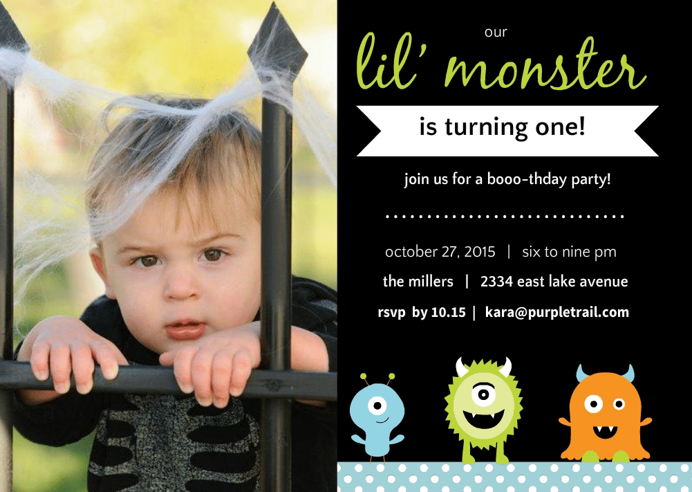 Halloween Birthday Party Invitation Ideas