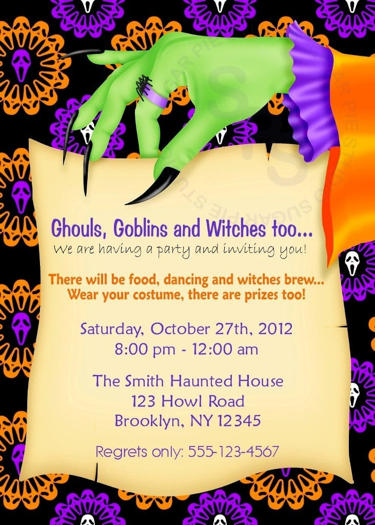 Halloween Birthday Party Invitation Wording