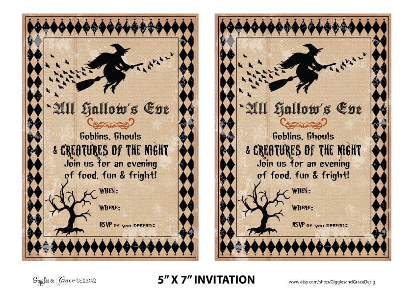 Halloween Invitation Ideas Free