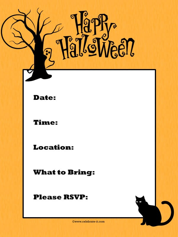 Halloween Party Invitation Templates Word