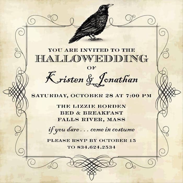 Halloween Wedding Invitation Ideas