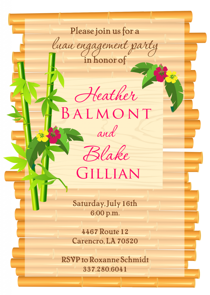 Hawaiian Invitations Free was great invitations template