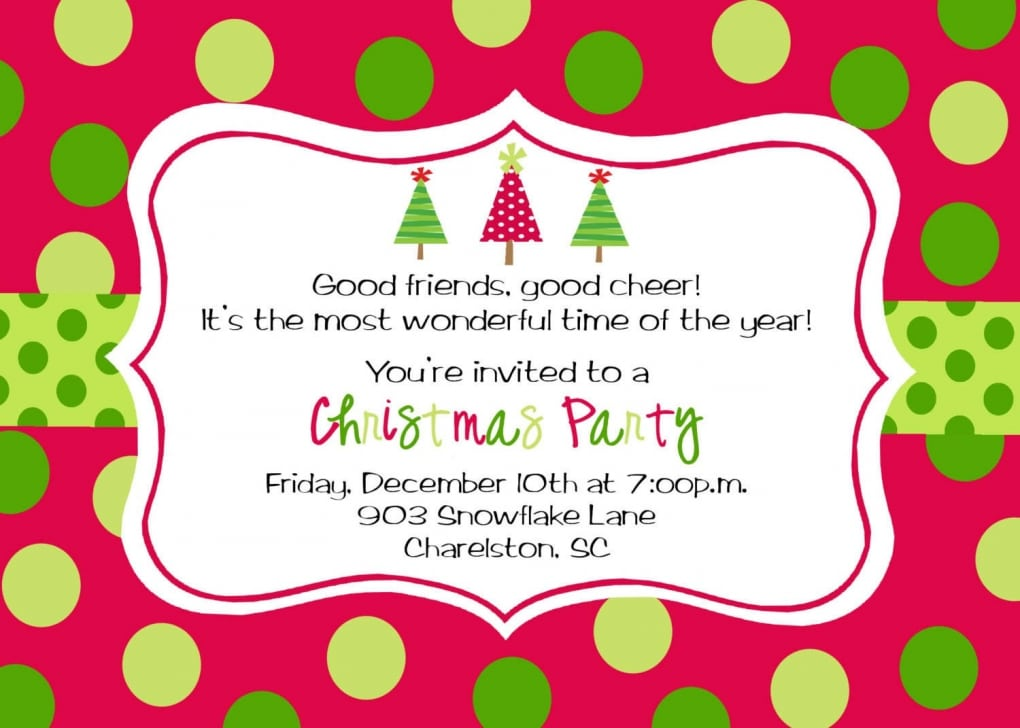 Holiday Party Invitation Templates Free Download