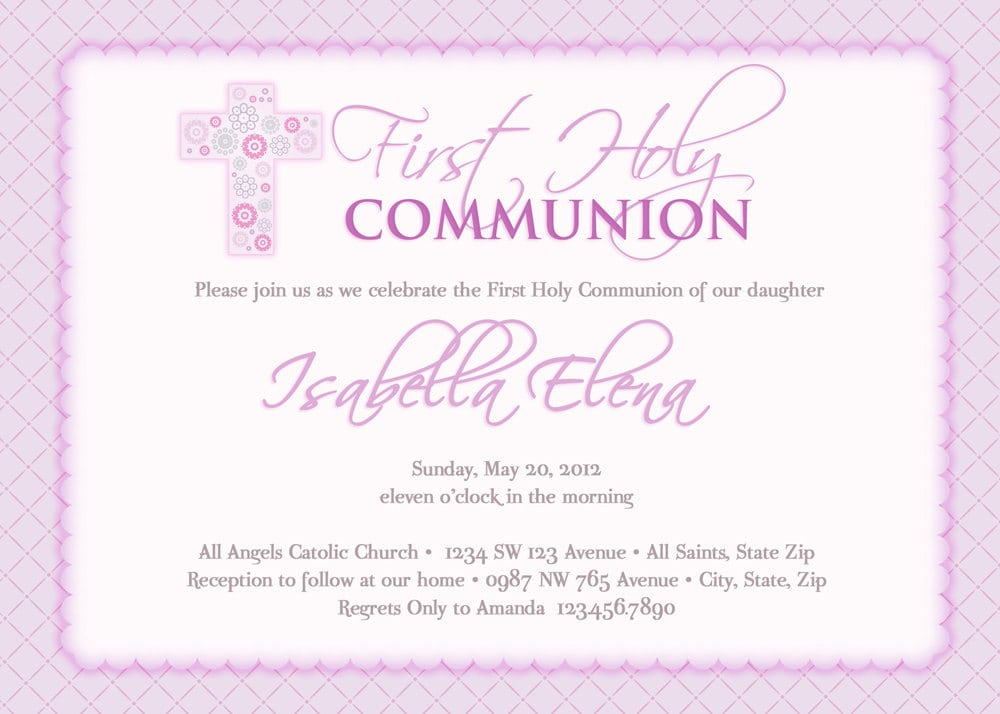 Holy Communion Invitation Wording