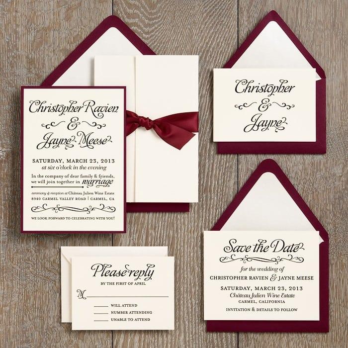 Homemade Wedding Invitation Ideas Samples