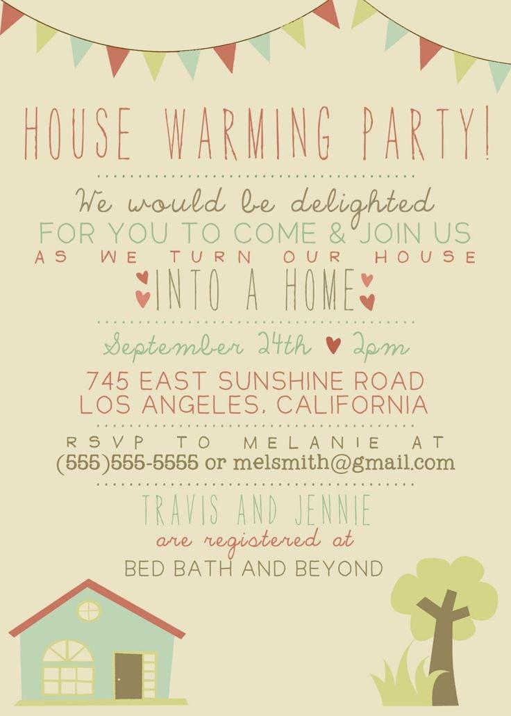 Housewarming Invitations Ideas Pinterest