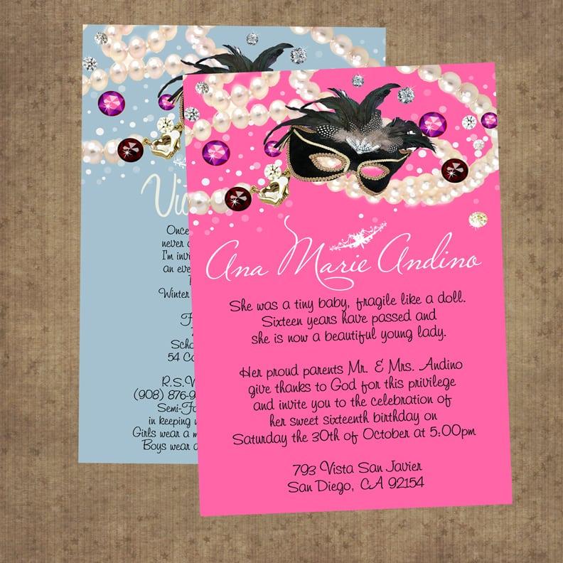 Invitation For Quinceanera