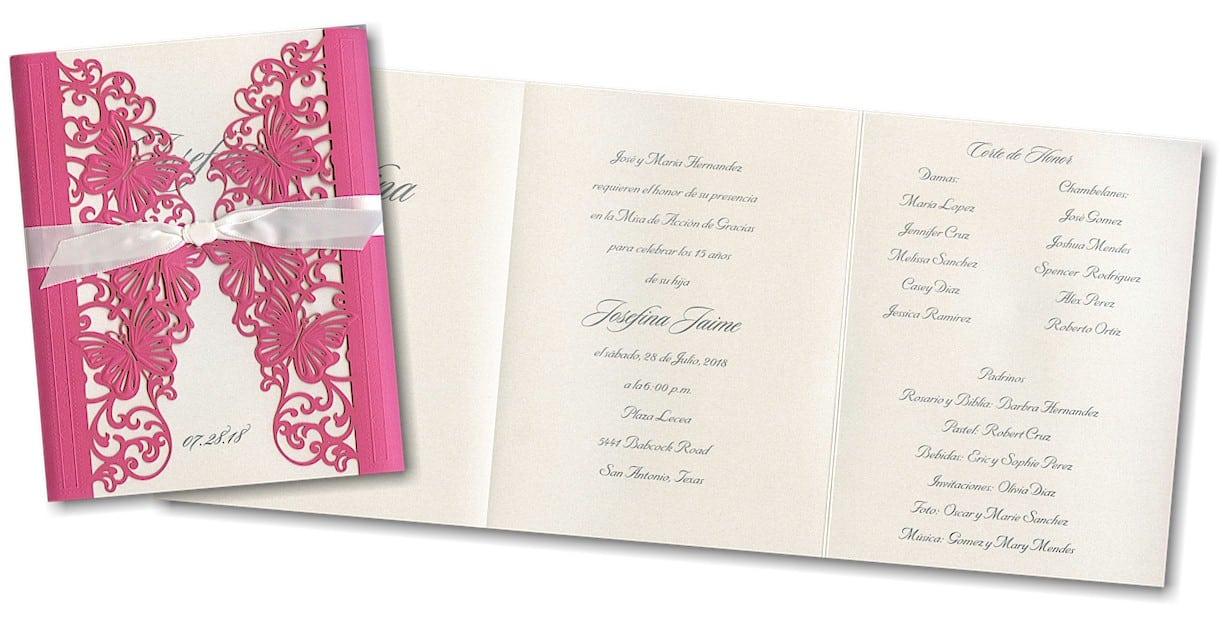 Invitation For Quinceaneras