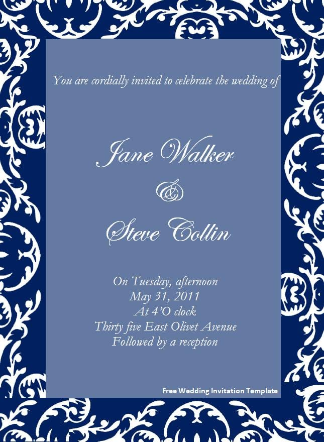 Invitation Template Free Download