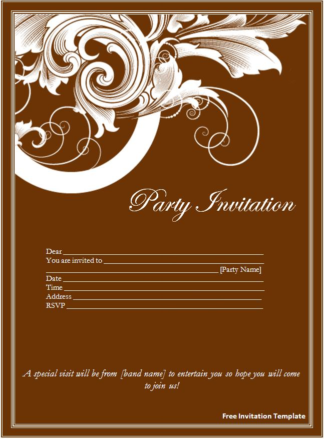 Invitation Template Free Download Word