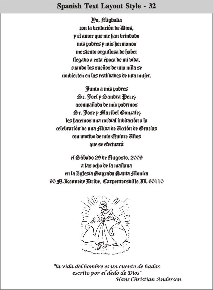 Invitation Wording For Quinceanera In Spanish