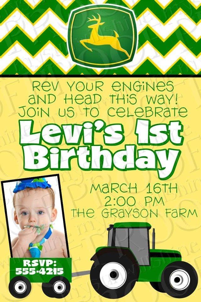 John Deere Birthday Invitations Printable