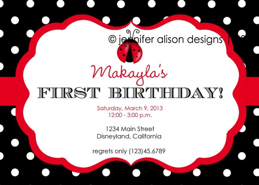 Ladybug Party Invitation Template