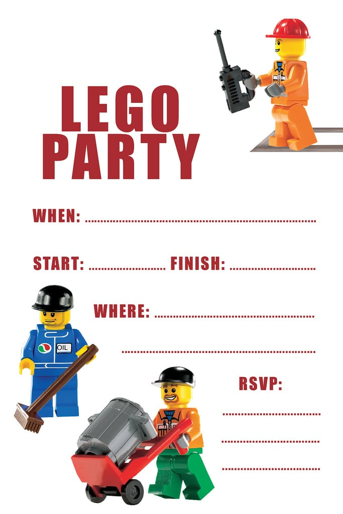 Lego Birthday Invitation Printable Free