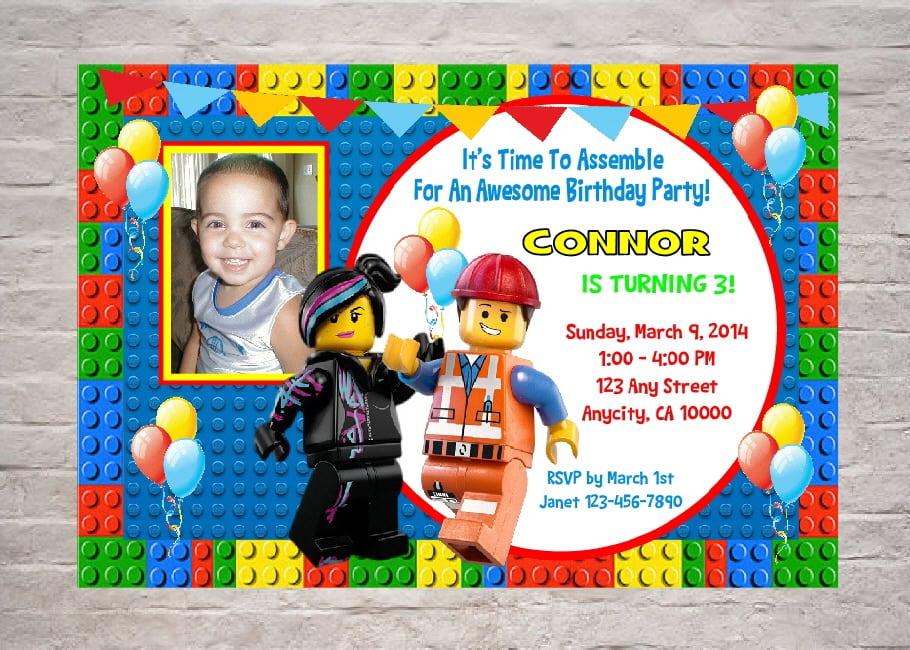 Lego Birthday Invitation Wording