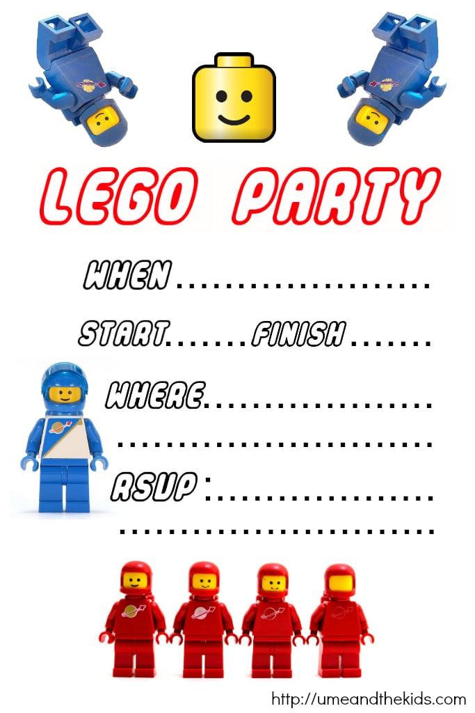 Lego Birthday Invitations Free