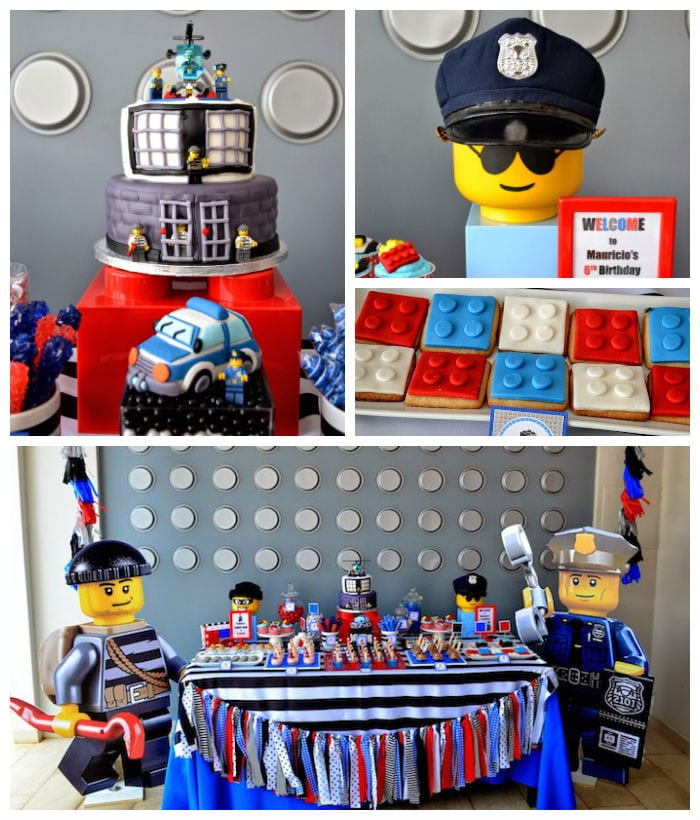 Lego City Birthday Party Invitations