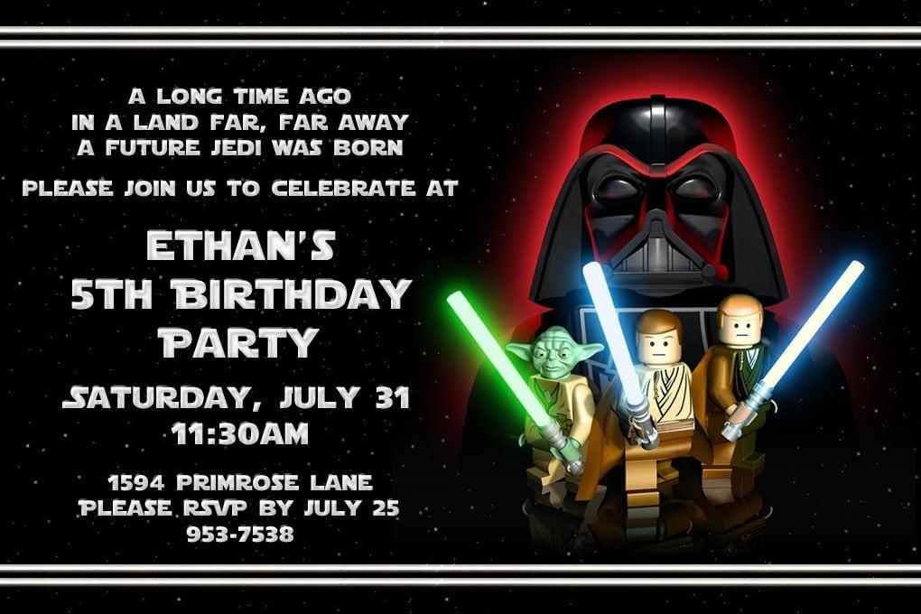 Lego Star Wars Free Party Invitations