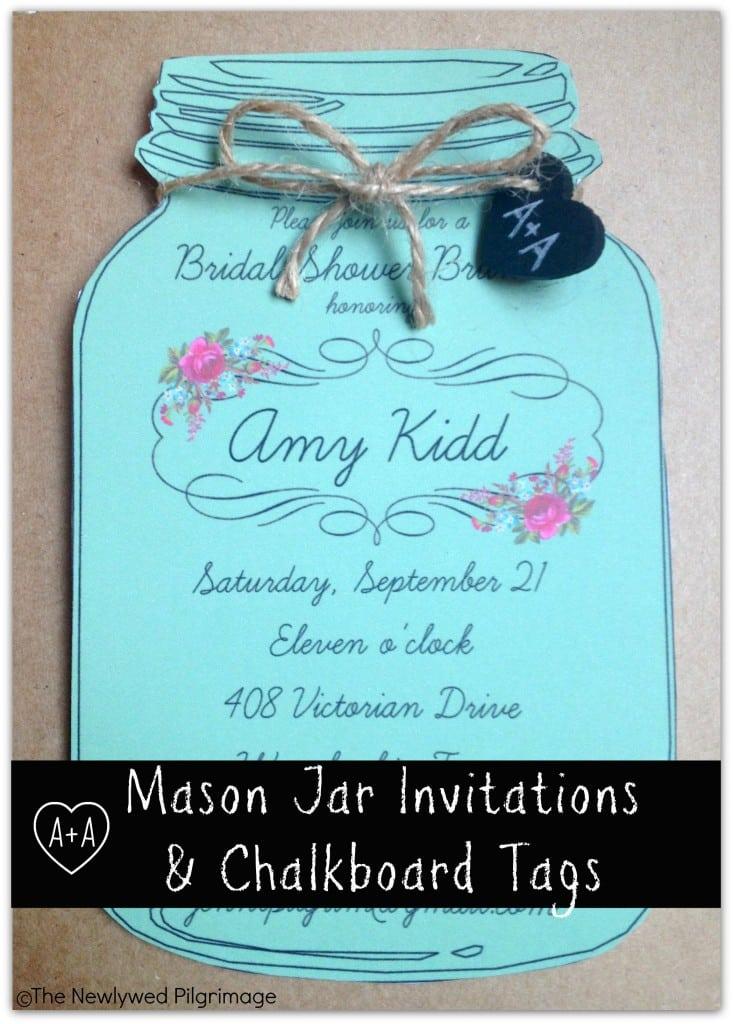 Mason Jar Birthday Invitation Template