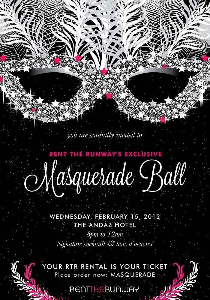 masquerade ball invitation. Black Bedroom Furniture Sets. Home Design Ideas