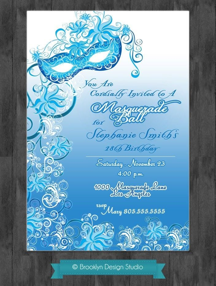Masquerade ball invitation for Masquerade invitations template free