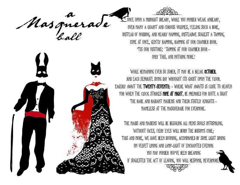 Masquerade Ball Invitation Wording