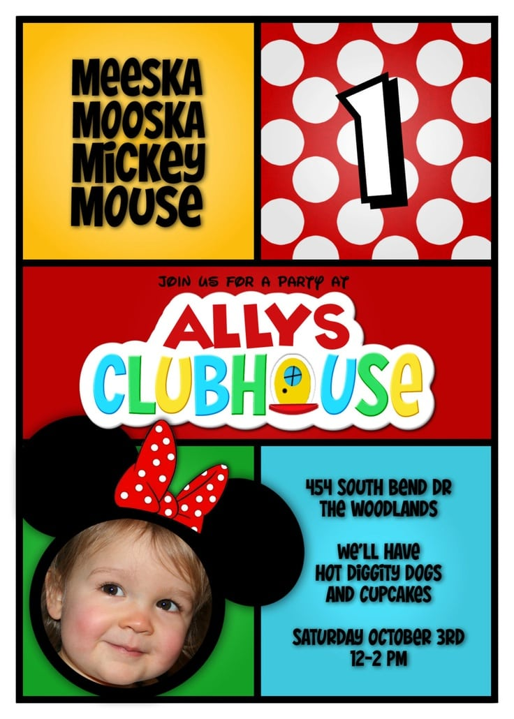 Mickey Mouse Clubhouse Invitations Etsy