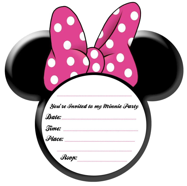 Minnie Mouse Invitation Template