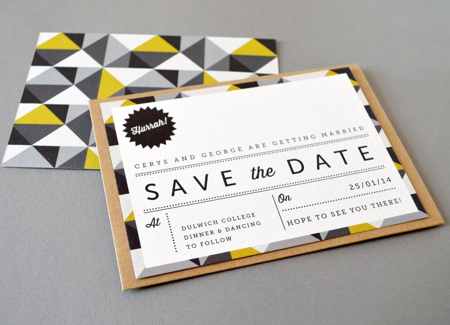 Modern Vintage Wedding Invitations Uk