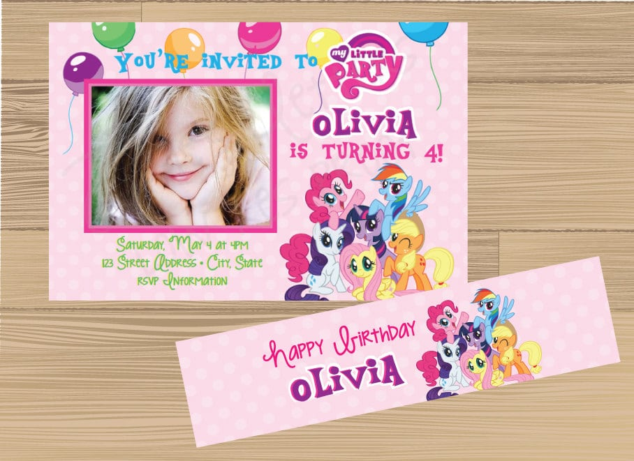 My Little Pony Party Invitations Walmart