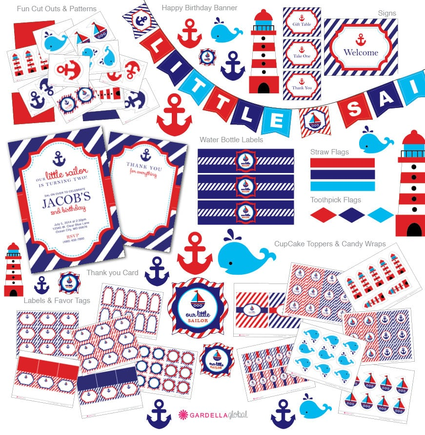 Nautical Birthday Invitations Free