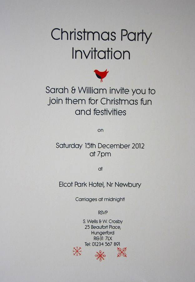 Party Invitation Text