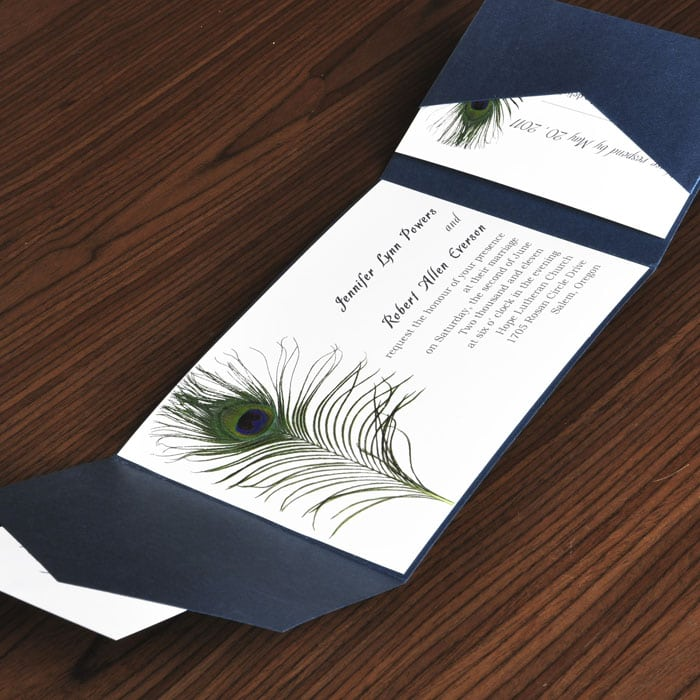 Peacock Wedding Invitation Kits