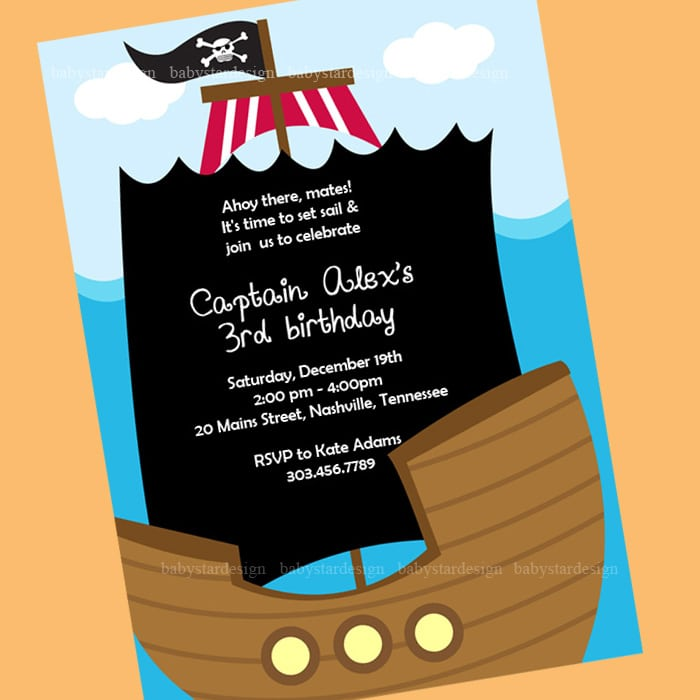 Pirate Invitation Template Download