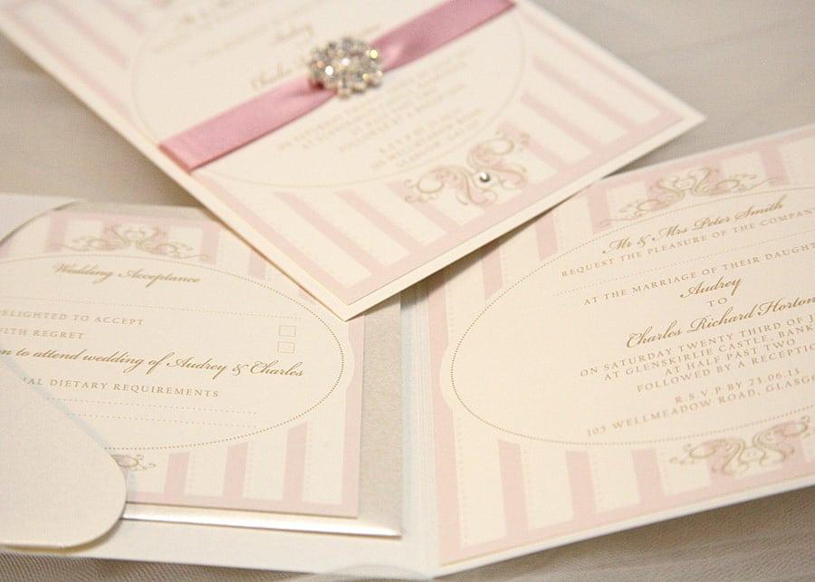Pocketfold Wedding Invitation With Inserts
