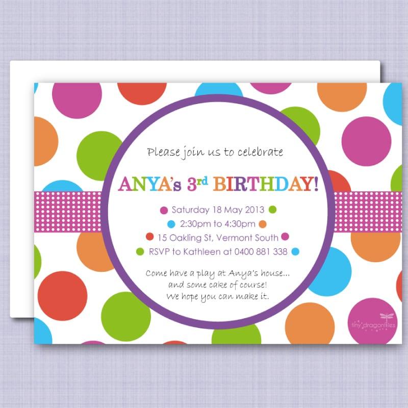 Polka Dot Invitation