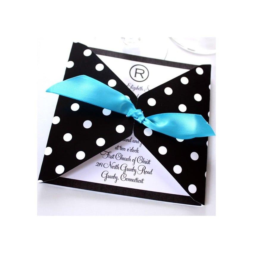 Polka Dot Invitation Paper