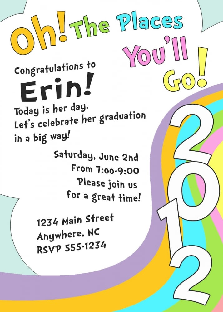Preschool Grad Invitation Template