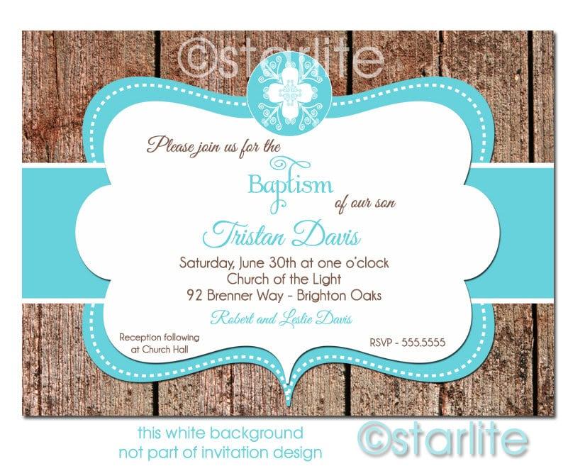 Printable Baptism Invitation Designs