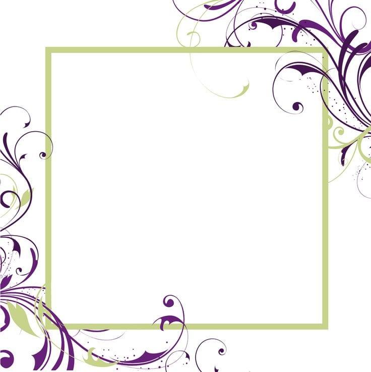 Printable Blank Wedding Invitation Template